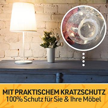 LED Glaskugel 3er Set - Exklusive Größe, Warmweiß, inkl. Timer und Kratzschutz - 10, 12 und 15cm LED Kugeln batteriebetrieben - Harmonische LED Leuchtkugeln als einzigartige Dekoration - 5