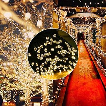 Led Lichterkette Strom 30M 300 LED mit Fernbedienung Timer Merkfunktion Lichterkette Steckdose IP65 Wasserdicht für Innen und Außen,Niederspannung, Warmweiß Lichterkette für Party, Weihnachten, Garten - 3