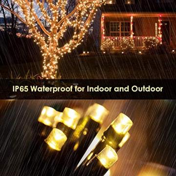 Led Lichterkette Strom 30M 300 LED mit Fernbedienung Timer Merkfunktion Lichterkette Steckdose IP65 Wasserdicht für Innen und Außen,Niederspannung, Warmweiß Lichterkette für Party, Weihnachten, Garten - 6
