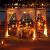 LED Lichtervorhang, Kaliwa Batteriebetriebe Lichterkette 138 LEDs Weihnachts Lichter mit 12 Sterne und LED Kugels, 2 Modi, IP44 Wasserdicht, ideal für Innenräume/Weihnachten/Partydeko (Warmweiß) - 4