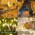 LED Lichtvorhang 3x3m, Ollny 300 LED Lichterkette Vorhang mit Fernbedienung & Timer 8 Modi Lichterkettenvorhang für Außen Innen Weihnachten Partydekoration Geburstag Hochzeit Fenster Zimmer, Warmweiß - 2