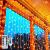 LED Lichtvorhang 3x3m, Ollny 300 LED Lichterkette Vorhang mit Fernbedienung & Timer 8 Modi Lichterkettenvorhang für Außen Innen Weihnachten Partydekoration Geburstag Hochzeit Fenster Zimmer, Warmweiß - 1
