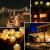 Leds Globe Lichterkette, Partybeleuchtung Außen,Warmweiße Kugel Lichterkette, Ideal Weihnachtsbeleuchtung für Innen, Zimmer,IP65 (Warm White, 10m/ 80 Lichter/Batteries) - 2