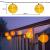 Lezonic Solar Lichterkette Lampion Außen, 8 Meter 30 LED Laternen 8 Modi Wasserdicht Solar Beleuchtung für Garten, Balkon, Hof, Hochzeit,Weihnachten,Party Deko (Warmweiß) - 2