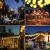 Lezonic Solar Lichterkette Lampion Außen, 8 Meter 30 LED Laternen 8 Modi Wasserdicht Solar Beleuchtung für Garten, Balkon, Hof, Hochzeit,Weihnachten,Party Deko (Warmweiß) - 3