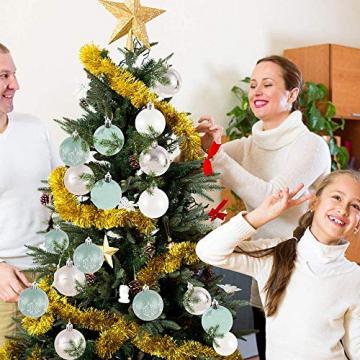 LICHENGTAI 30 Stück Weihnachtskugeln Weihnachtsdeko Set, 6 cm Kunststoff Weihnachtsbaumkugeln Box mit Aufhänger Christbaumkugeln Plastik Bruchsicher, Weihnachtsbaumschmuck für Festsdekoration - 3
