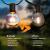 Lichterkette Außen G40 Glühbirnen BrizLabs 7.6M 25 + 2 Birnen Garten Lichterkette Aussen Glühlampen Wasserdicht Globe Beleuchtung für Innen Haus Balkon Patio Party Hochzeit Weihnachten, Warmweiß - 4
