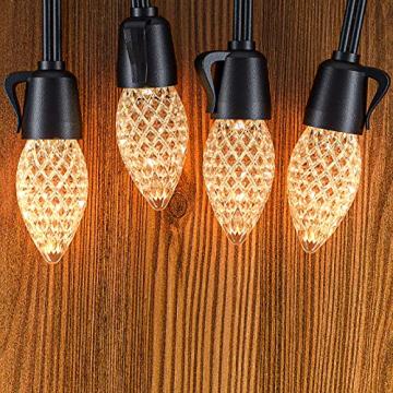 Lichterkette Außen GERMGENIE 15M 20x1W Dimmbare LED Glühbirnen Lichterkette Aussen Strom IP65 Wasserdicht mit Fernbedienung, Stecker, Timer, für Garten Balkon Outdoor Party Weihnachten, Warmweiß - 8
