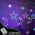 Lichterkette Bunt Sterne Mond, 3.5m*1.1m 8 Modi LED Fenster Lichterketten Vorhang Lichterkette für Zimmer Stimmungslichter ideale für Außenbeleuchtung und Innenbeleuchtung [Mehrfarbig] - 2