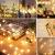 Lichterkette Kugeln, Koopower 100er LED 11M USB Strombetrieben Lichterketten Globe mit Stecker 8 Modus Timer Lichterkette Dimmbar mit Fernbedienung Wasserdicht Beleuchtung für Innen Decor Warmweiß - 4