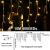 Lichtervorhang Aussen, Lichterkette Außen Innen 10M 400LED Eisregen Lichterkette Strom IP44, 8 Modi Lichtvorhang Für Zimmer, Traufe, Treppe, Geländer, Weihnachten, Party Deko - 2