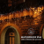 Lichtervorhang Aussen, Lichterkette Außen Innen 10M 400LED Eisregen Lichterkette Strom IP44, 8 Modi Lichtvorhang Für Zimmer, Traufe, Treppe, Geländer, Weihnachten, Party Deko - 4