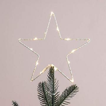 Lights4fun LED Stern Christbaumspitze Weihnachtsdeko Batteriebetrieb - 1