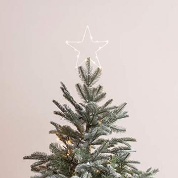 Lights4fun LED Stern Christbaumspitze Weihnachtsdeko Batteriebetrieb - 2