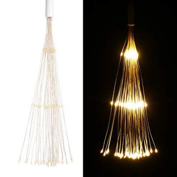 Lixada Feuerwerk LED Licht, 150 LEDs Weihnachten Lichterketten mit Fernbedienung dekorative hängende Starburst Lampe für Indoor Outdoor Home Parties Hochzeit Hofgarten (2 Stück) - 7