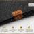 Luana Rose Platzsets aus Filz 12er Set in Anthrazit - Tischset abwischbar - 44x32 cm Filzuntersetzer - Hochwertige Platzdeckchen abwaschbar in Grau - Tischuntersetzer Platzset + Glas Untersetzer-Set - 4