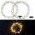 Lunartec Lichtkranz Weihnachten: 2er-Set LED-Lichterkränze für Fenster, Türen u.v.m, 32 warmweiße LEDs (Fensterbeleuchtung Weihnachten) - 2