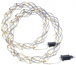 Lunartec Lichtkranz Weihnachten: 2er-Set LED-Lichterkränze für Fenster, Türen u.v.m, 32 warmweiße LEDs (Fensterbeleuchtung Weihnachten) - 1