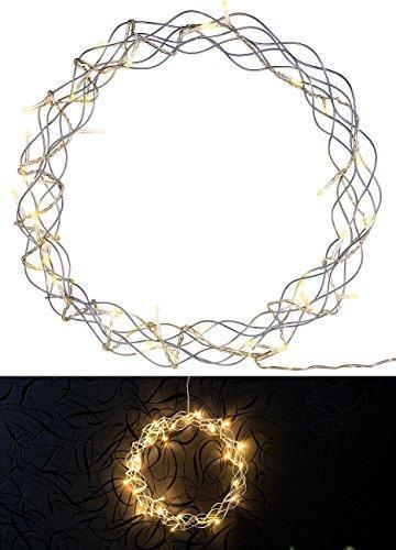 Lunartec Lichtkranz Weihnachten: 2er-Set LED-Lichterkränze für Fenster, Türen u.v.m, 32 warmweiße LEDs (Fensterbeleuchtung Weihnachten) - 9