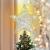 Luxspire Weihnachtsbaumspitze Stern, Glitzerstern Weihnachtsbaum Topper Batteriebetriebener Christbaumspitze Beleuchtete Metall Baumspitze LED Baumkronen Deko Licht Tannenbaum Weihnachtsdeko, Silber - 1