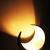 MAADES Windlicht Laterne orientalisch Moon Groß 20cm Gold | Orientalische Vintage Teelichthalter Schwarz von außen und Goldfarben innen | Marokkanische Windlichter aus Metall als Dekoration - 2