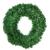 Mackur Tannenkranz Türkranz Weihnachtskranz Künstlicher Deko Kranz Adventskranz Grün für Wänden oder Türen 1 Stück (40CM) - 3