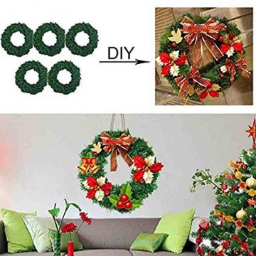 Mackur Tannenkranz Türkranz Weihnachtskranz Künstlicher Deko Kranz Adventskranz Grün für Wänden oder Türen 1 Stück (40CM) - 5