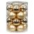 MAGIC Weihnachtskugeln Glas 6cm 20 STK. Christbaumkugeln Farbe: Brokat Gold Glanz matt - 1