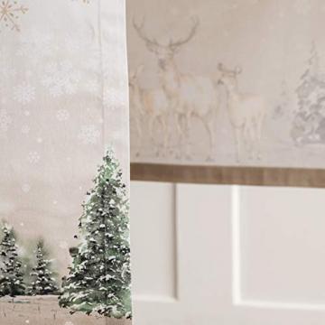 Maison d' Hermine Deer In The Woods Tischläufer aus 100% Baumwolle für Partys | Abendessen | Feiertage | Küche | Thanksgiving/Weihnachten (50 cm x 150 cm) - 7