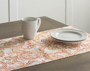 Maison d' Hermine Palatial Paisley Tischläufer aus 100% Baumwolle für Partys | Abendessen | Feiertage | Küche | Thanksgiving/Weihnachten (50 cm x 150 cm) - 5