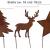 Metall Stecker Baum Stern Rentier 3erSet Rost Stecken Beetstecker Tierfigur Advent Weihnachten Hirsch Elch Rasenstecker Gartenstecker Blumenstecker Winter Garten Deko Gartendekoration braun (Motiv 2) - 2