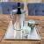 MichaelNoll Dekoteller Dekotablett Schale Dekoplatte Aluminium Silber XL 25x25x2 cm (35x35x2 cm) - 2