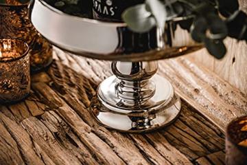 MichaelNoll Dekoteller Schale Servierplatte Aluminium Silber Luxus Poliert - Moderne Dekoschale aus Metall - Tischdeko Hochzeit - Dekoration für Wohnzimmer, Esszimmer oder Küche - 28 cm - 9