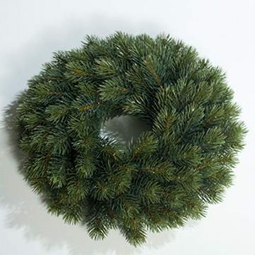 mucplants Künstlicher Edeltannenkranz Grün Tannenkranz 34 cm Rund Gebunden Künstlicher Kranz - 1