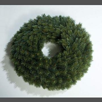 mucplants Künstlicher Edeltannenkranz Grün Tannenkranz 48 cm Rund Gebunden Künstlicher Kranz - 1