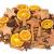 NaDeco Weihnachts Potpourri 250g mit Zimtstangen, Sternanis, Orangenscheiben, Tannenzapfen und Kokossternen - 1