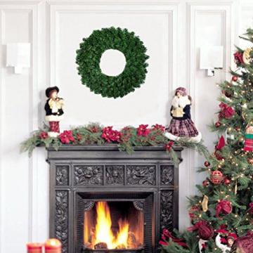 OULII 40CM Tannenkranz Weihnachtskranz Weihnachtsdeko grün Türkranz Girlande Party Wand Haus Dekor - 2