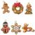 Queta Christbaumschmuck Weihnachtsbaum Anhänger Dekoration (Lebkuchen-6 Stück) - 1