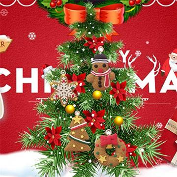 Queta Christbaumschmuck Weihnachtsbaum Anhänger Dekoration (Lebkuchen-6 Stück) - 2