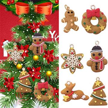 Queta Christbaumschmuck Weihnachtsbaum Anhänger Dekoration (Lebkuchen-6 Stück) - 3