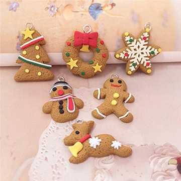 Queta Christbaumschmuck Weihnachtsbaum Anhänger Dekoration (Lebkuchen-6 Stück) - 5