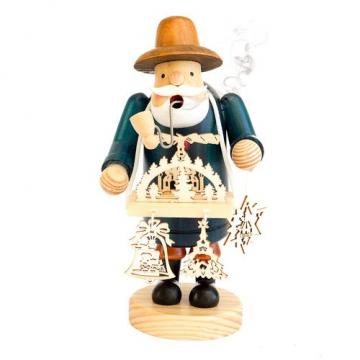 Rauchfigur mit Bauchladen, Händler, Handarbeit, Räuchermännchen, Räucherfigur - 1