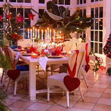 Raycare 12er Set LED Stabkerzen, Flammenlose Tafelkerzen, batteriebetrieben Harry Potter Kerzen für Muttertagsgeschenk, Party, Hochzeit, Kirche Dekorationen (MEHRWEG) - 4