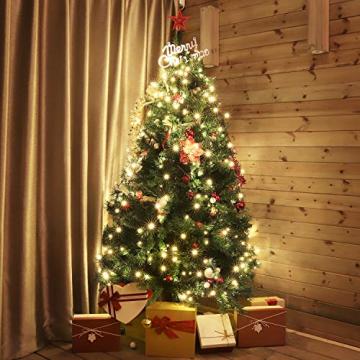SALCAR Weihnachtsbaum künstlich 180cm mit 580 Spitzen, Tannenbaum künstlich Schnellaufbau inkl. Christbaum-Ständer, Weihnachtsdeko - grün 1,8m - 2