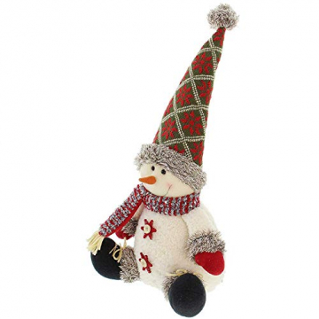 SIDCO Türstopper Schneemann XXL Türbremse Winter Figur Weihnachten Advent Deko 50 cm - 2