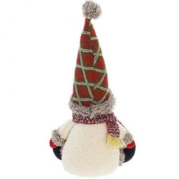 SIDCO Türstopper Schneemann XXL Türbremse Winter Figur Weihnachten Advent Deko 50 cm - 3