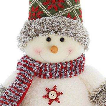 SIDCO Türstopper Schneemann XXL Türbremse Winter Figur Weihnachten Advent Deko 50 cm - 4