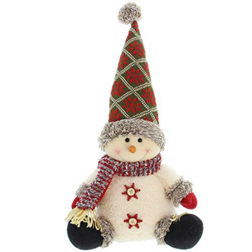 SIDCO Türstopper Schneemann XXL Türbremse Winter Figur Weihnachten Advent Deko 50 cm - 1
