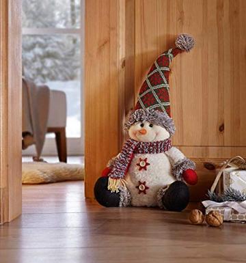 SIDCO Türstopper Schneemann XXL Türbremse Winter Figur Weihnachten Advent Deko 50 cm - 5