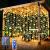 Solar Lichtervorhang Aussen, FANSIR 3 X 3m 300 LED Lichterketten Vorhang 8 Modi Fernbedienung Wasserdicht Solar Lichterketten Aussen für Gartendeko Balkon Hochzeit Weihnachten Innen (Warmweiß) - 1